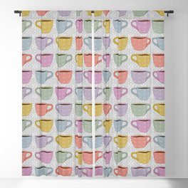 Colorful Cups Blackout Curtain
