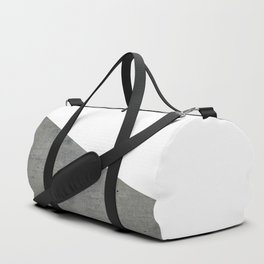 Concrete Vs White Duffle Bag