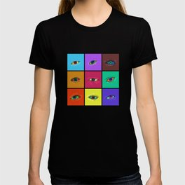on the roads at night i saw the glitter of eyes T-shirt