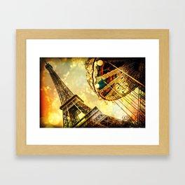 pariS. : Eiffel Tower & Ferris Wheel Framed Art Print