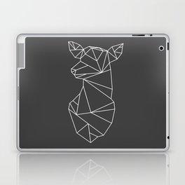 Geometric Doe (White on Grey) Laptop & iPad Skin