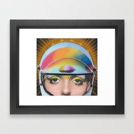 Intergalactic Girl Framed Art Print