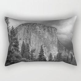 Yosemite National Park, El Capitan, Black and White Photography, Outdoors, Landscape, National Parks Rectangular Pillow