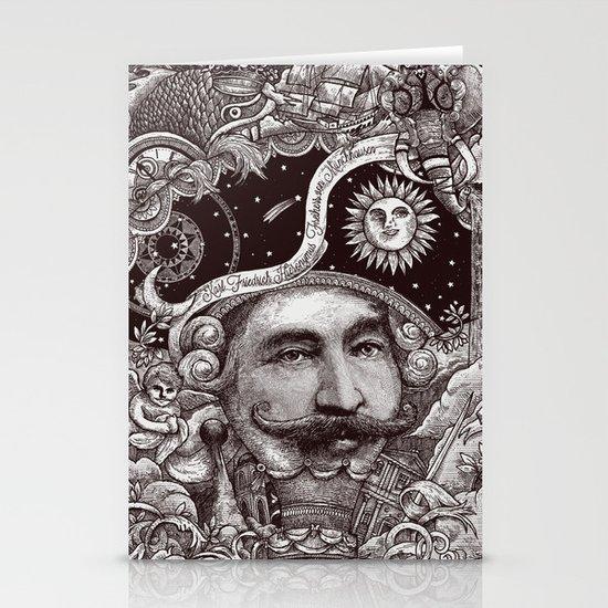 Baron von Munchausen Stationery Cards
