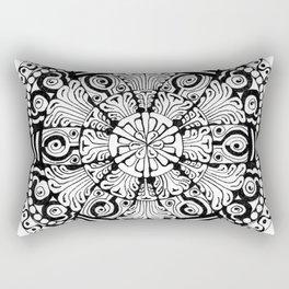 Mandala Monochrome Rectangular Pillow