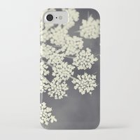 plants iPhone & iPod Cases featuring Black and White Queen Annes Lace by Erin Johnson