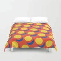 lichtenstein Duvet Covers featuring Wanna-Be Roy Lichtenstein Pattern & Letterform by Heidi Clifford