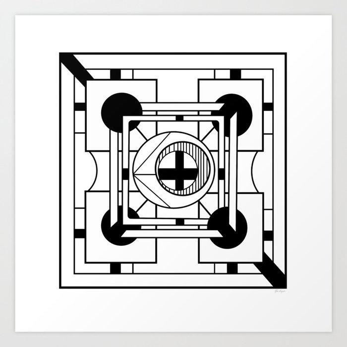 Cornerstone - Minimalist Geometric Abstract Art Print
