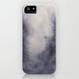 Abstract watercolor #38 - Dark dreams - Abstract watercolour painting iPhone Case