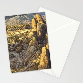 Rocky desert at sunset Stationery Cards