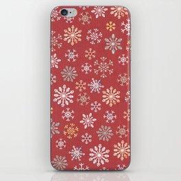 christmas snow iPhone Skin