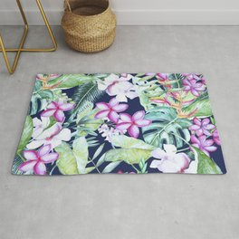Tropical Garden Blue #society6 #buyart Rug