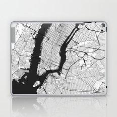 New York Map Gray Laptop & iPad Skin