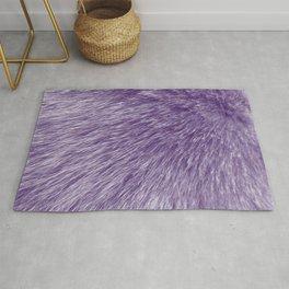 Lollipop Purple Fur Rug