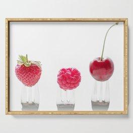 3 fruits, 3 forks Serving Tray
