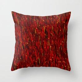The Red Curtain Cascade Throw Pillow