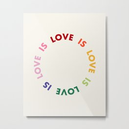 Love Is Love Metal Print