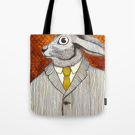 El conejo careta Tote Bag