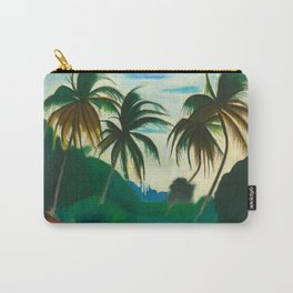 Tropical Scene with Palms and Flowers by Joseph Stella Carry-All Pouch