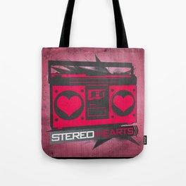 Stereo Hearts Tote Bag