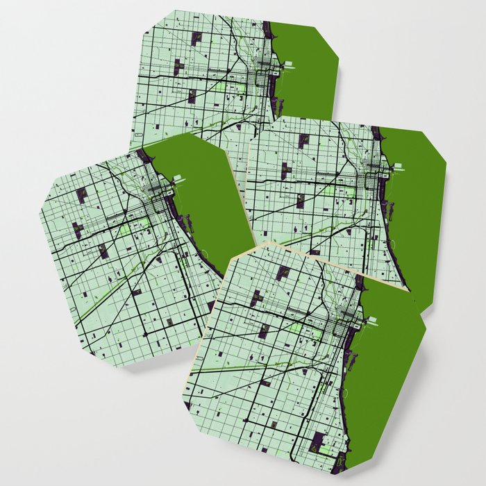 Chicago Street Map // Green Theme Coaster by danydesign on map of chicago university, map of chicago downtown, map of chicago airport, map of chicago symphony, map of chicago chinatown, map of chicago trolley, map of chicago redline, map of chicago transit, map of chicago metra, map of chicago city center, map of chicago cta, map of chicago union station, map of chicago google, map of chicago bus, map of chicago state street, map of chicago waterfront, map of chicago metro, map of chicago amtrak, map of chicago train,