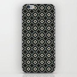 Black Marble Pattern iPhone Skin