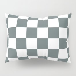 Checkered Pattern: Steel Grey Pillow Sham