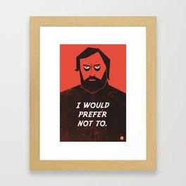 Slavoj Zizek - I would prefer not to. Framed Art Print