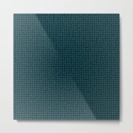 Blue dots on dark green - soft pastel Metal Print
