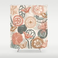 doodle Shower Curtains featuring doodle  by Ancello