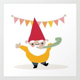 Party Gnome Art Print