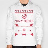 murray Hoodies featuring Murray Christmas (2013) by Derek Eads