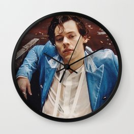 Harry in blue suit Wall Clock