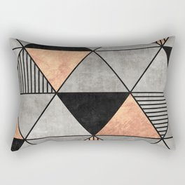 Concrete and Copper Triangles 2 Rectangular Pillow