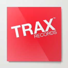 Trax Records Signature Logo Metal Print