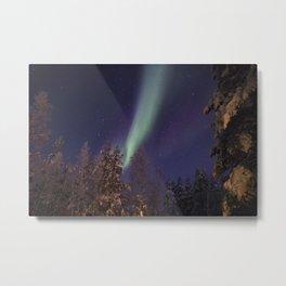 Finland lapland northern lights Metal Print