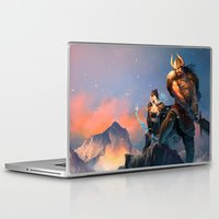 league of legends Laptop & iPad Skins featuring League of Legends-Tryndamere and Ashe by RJ Palmer