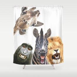 Jungle Animal Friends Shower Curtain
