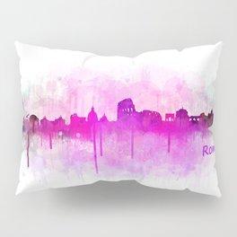 Rome city skyline HQ v05 pink Pillow Sham