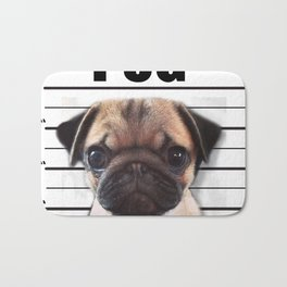good pugs gone bad Bath Mat