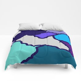 mountains and night sky Comforters