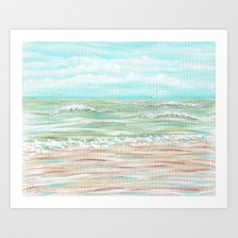 """Big Waves at Wildwood"" Art Print"