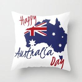 Happy Australia Day 2018 Throw Pillow
