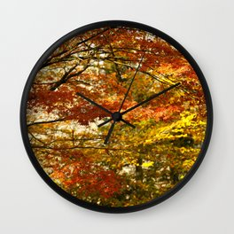Forest foliage in Autumn Wall Clock