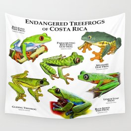 Endangered Treefrogs of Costa Rica Wall Tapestry