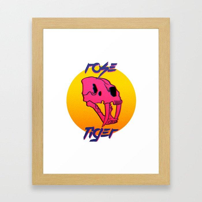 Rose Tiger Framed Art Print