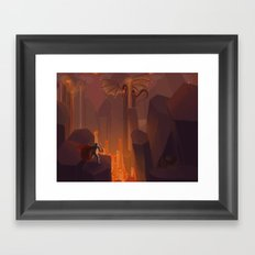 Into the Flames Framed Art Print