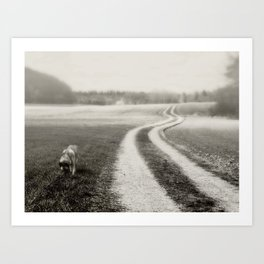 Walk the Dog Art Print