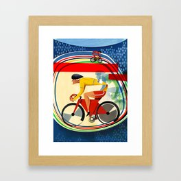 Track Cycling Championship Poster Cycle Bike Framed Art Print