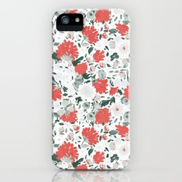 Fall loral Red iPhone Case